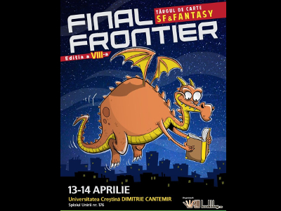 "Târgul de carte SF&F ""Final Frontier"" 2019 (afiș)"